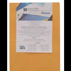 ENVELOPE OURO FORONI 26X36 COM 10 UNIDADES