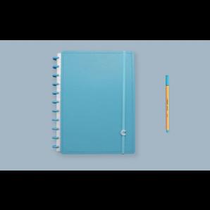 CADERNO INTELIGENTE CLAPPER GRANDE 80 FOLHAS ALL BLUE