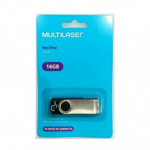 PEN DRIVE PRETO TWIST 16GB MULTILASER