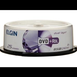 DVD-R GRAVÁVEL DUAL LAYER ELGIN COM 25 UNIDADES