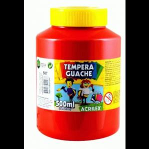 TINTA GUACHE 500ML ACRILEX 507 VERMELHO FOGO