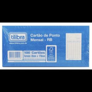 CARTÃO DE PONTO MENSAL RB TILIBRA COM 100 CARTÕES