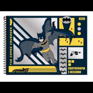 CADERNO DE DESENHO CAPA DURA FORONI BATMAN 96 FOLHAS