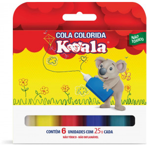 COLA COLORIDA KOALA COM 6 UNIDADES