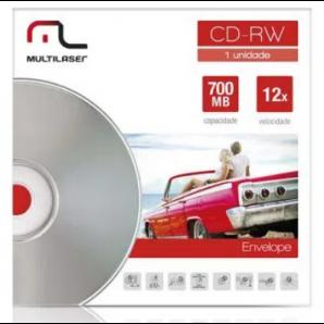 CD-RW GRAVÁVEL MULTILASER CD037
