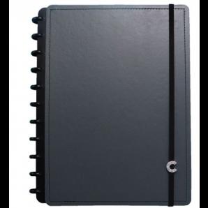 CADERNO INTELIGENTE CLAPPER GRANDE 80 FOLHAS BASIC GREY