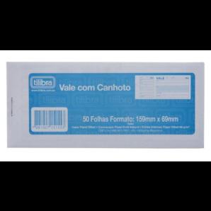 VALE COM CANHOTO TILIBRA COM 50 FOLHAS