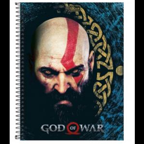 CADERNO CAPA DURA 10 MATÉRIAS TILIBRA GOD OF WAR 160 FOLHAS