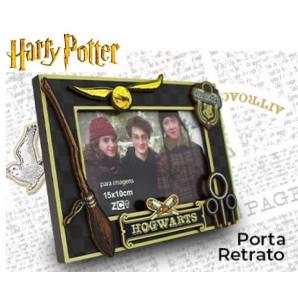 PORTA RETRATO ZONACRIATIVA MDF HARRY POTTER C/APLIQUE 15X10