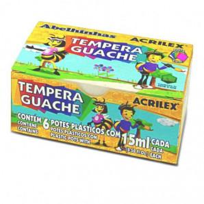 TINTA GUACHE ACRILEX COM 6 UNIDADES