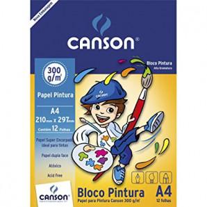 BLOCO PAPEL CANSON PINTURA COM 12 FOLHAS