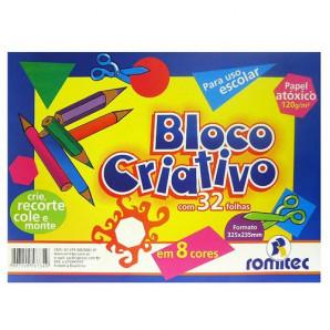 BLOCO CRIATIVO CRIATIVE PAPER ROMITEC A4 COM 32 FOLHAS