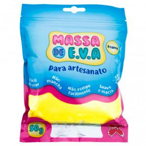 MASSA DE EVA ARTESANATO AMARELO 50G