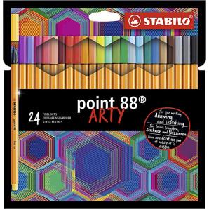 CANETA STABILO POINT 88 ARTY COM 24 UNIDADES