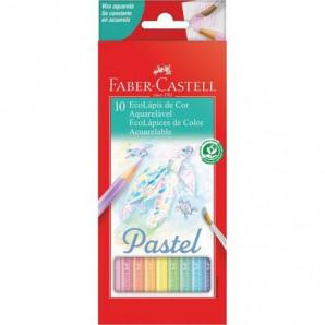 LAPIS DE COR FABER CASTELL COM 10 AQUARELA PASTEL