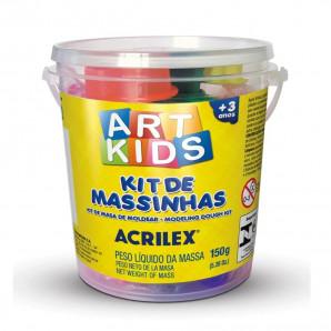 KIT DE MASSINHAS DE MODELAR ART KIDS ACRILEX