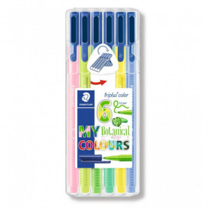 CANETA STAEDTLER TRIPLUS FINELINER MY BOTANICAL COLOURS 0.3 MM
