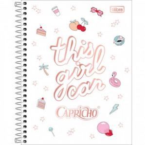 CADERNO CAPA DURA 10 MATÉRIAS COLEGIAL TILIBRA CAPRICHO 160 FOLHAS
