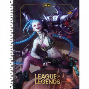 CADERNO CAPA DURA 1 MATÉRIA LEAGUE OF LEGENDS TILIBRA 80 FOLHAS
