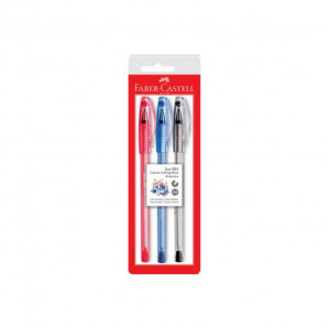 CANETA FABER CASTELL ICE 061 C/3 SORT BL