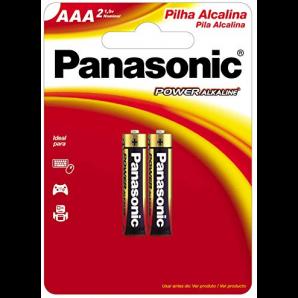 PILHA ALCALINA AAA PANASONIC COM 2 UNIDADES