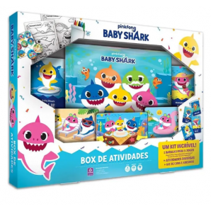JOGO BOX DE ATIVIDADES BABY SHARK COPAG