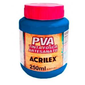 TINTA PLASTICA PVA ACRILEX 250ML 501 AZUL TURQUESA