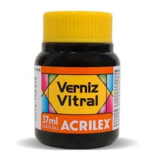 VERNIZ VITRAL ACRILEX 37ML 517 LARANJA