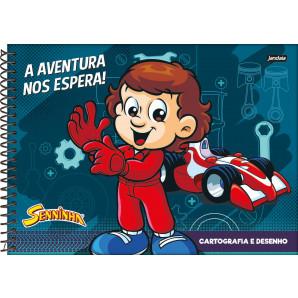 CADERNO DE DESENHO CAPA DURA JANDAIA SENNINHA 96 FOLHAS