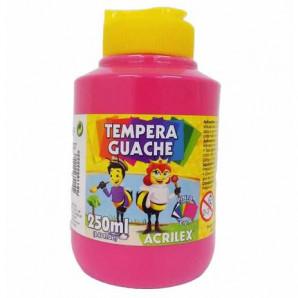 TINTA GUACHE 250ML ACRILEX 537 ROSA