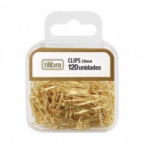 CLIPS NÚMERO 2/0 TILIBRA DOURADO COM 120 UNIDADES