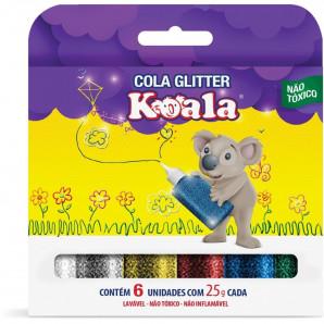 COLA GLITTER KOALA COM 6 UNIDADES