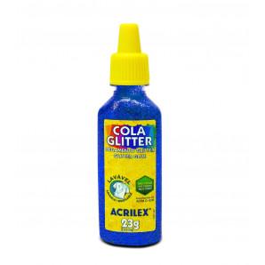 COLA GLITTER ACRILEX AZUL 23G