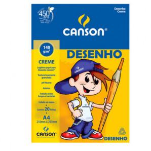 BLOCO DE DESENHO ESCOLAR CREME CANSON 140G A4
