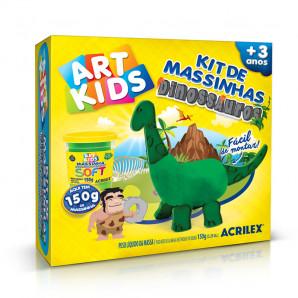 KIT DE MASSINHAS DE MODELAR ART KIDS DINOSSAUROS VERDES ACRILEX