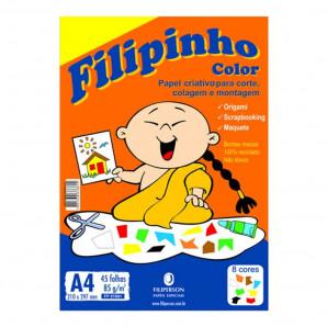 BLOCO CRIATIVE FILIPINHO COLOR COM 45 FOLHAS