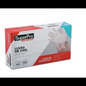 LUVAS DE VINIL DESCARTAVÉIS SUPERPRO BETTANIN G COM 100 UNIDADES