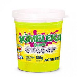 KIMELEKA SLIME ART KIDS GLITTER ACRILEX 180G CORES SORTIDAS