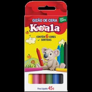 GIZÃO DE CERA KOALA COM 6 UNIDADES
