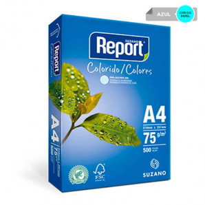 PAPEL REPORT COLORIDO AZUL