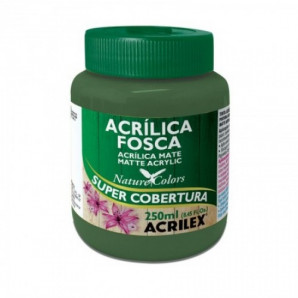 TINTA ACRÍLICA FOSCA 250ML ACRILEX 513 VERDE MUSGO