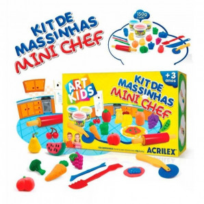 KIT DE MASSINHAS DE MODELAR ART KIDS MINI CHEF ACRILEX