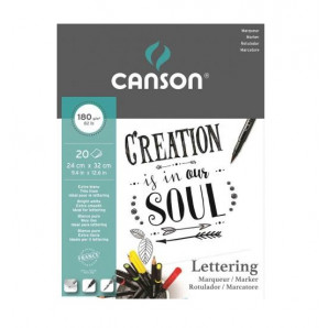 BLOCO PAPEL CANSON CREATION MARKER LETTERING COM 20 FOLHAS