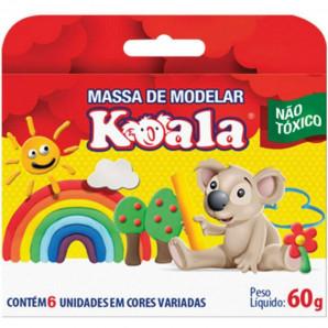 MASSA DE MODELAR KOALA COM 6 UNIDADES