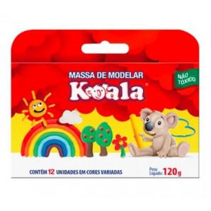 MASSA DE MODELAR KOALA COM 12 UNIDADES