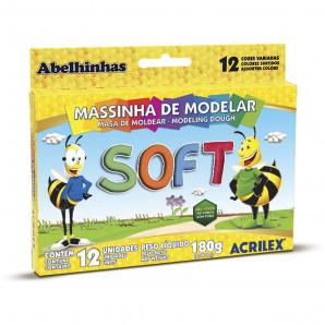 MASSA DE MODELAR ACRILEX SOFT COM 12 UNIDADES