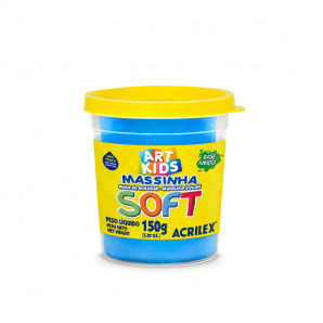 MASSINHA DE MODELAR SOFT 150G ART KIDS AZUL ACRILEX