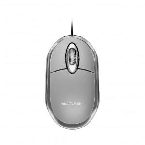 MOUSE ÓPTICO CLASSIC COM FIO MULTILASER USB
