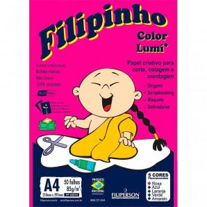 BLOCO CRIATIVE FILIPINHO COLOR LUMI COM 50 FOLHAS