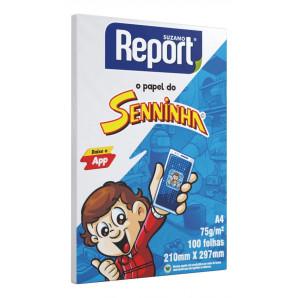 PAPEL REPORT SENNINHA BRANCO COM 100 FOLHAS